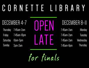 Finals hours FALL 2014